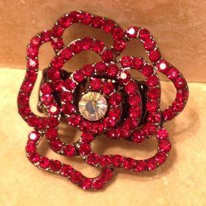Red💎 Flower ring